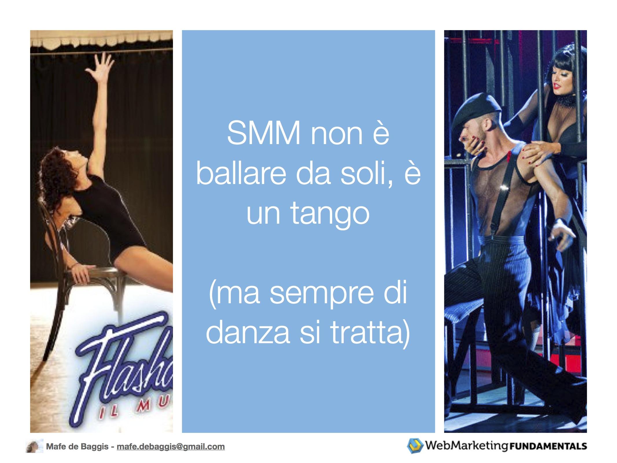 SMM non è ballare da soli, è un tango (ma sempre di danza si tratta)