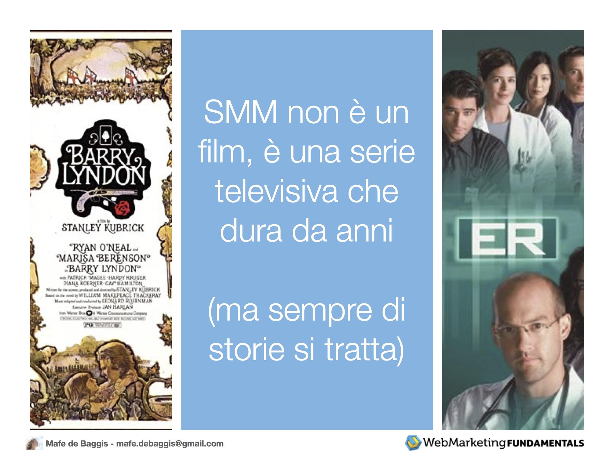 SMM non è un film, è una seria televisiva che dura da anni (ma sempre di storie si tratta)